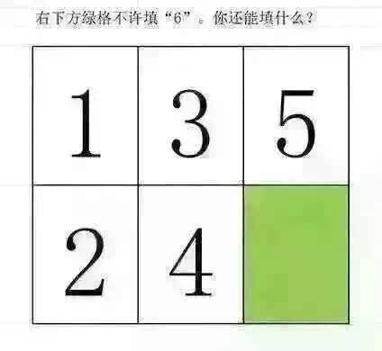 脑筋急转弯12345不填6填什么